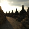 Borobudur Temple at sunrise - Java, Indonesia